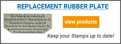 Custom Replacement rubber plate for self inking stamps