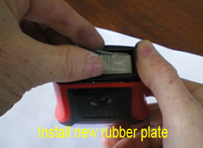 Custom rubber plate for self inking stamp